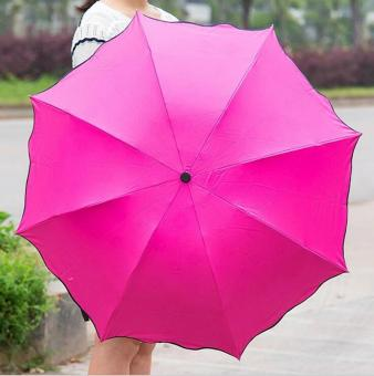 Harga Magic Umbrella for Sunny and Rainy Appear Flowers When Meet Water (Rose Red) - intl