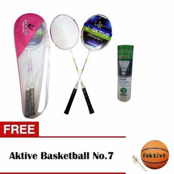 Aktive Badminton 1702 and Aktive Shuttlecocks Green Label (6 pcs) with Free Aktive Basketball No. 7 Price Philippines