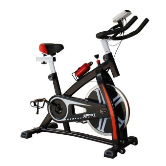 Harga Gym Fitness Sport Equipment Spinning Bicycle Cycling Exercise Bike (Black/Red)