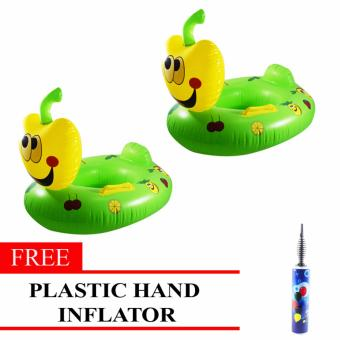 MMC Inflatable Lifebuoy Swim Ring Apple Set of 2 with Free Plastic Hand Inflator Price Philippines