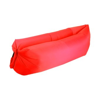 Inflatable Lazy Air Camping Sofa Bed (Red) Price Philippines