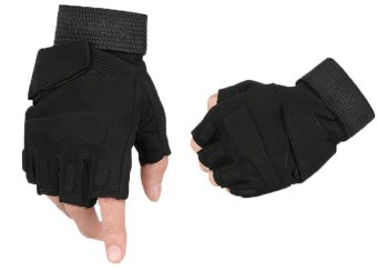 niceEshop Half-finger Airsoft Hunting Riding Gloves(Black,XL) - Intl Price Philippines
