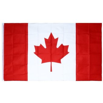 Harga 5 x 3 Feet Polyester Canada National Flag Country Banner