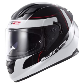 Harga LS2 Full-Face FF320 Lunar Helmet XL (Black/White)