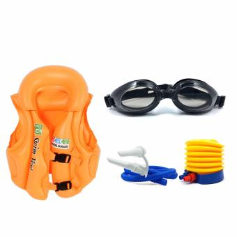 Swimming Essential Set Vest Floaters Salbabida Lifebouy Goggle Hand Air Pump for Kids Price Philippines