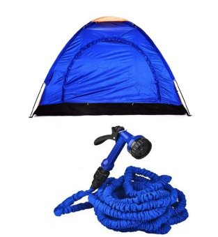 4-Person Dome Camping Tent Bundle with Expandable Garden Hose up to 50 ft Price Philippines