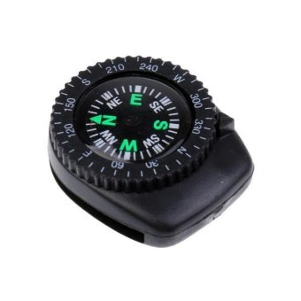 Harga MagiDeal 25mm Mini Precision Watchband Clip-on Compass for Survival