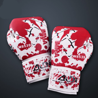 OEM Race Professional Boxing Gloves(White and Red) Price Philippines