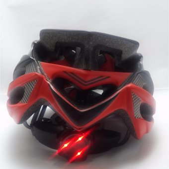 La Bici Quantum MTB Bike Helmet w/ LED Lights (Red) Price Philippines