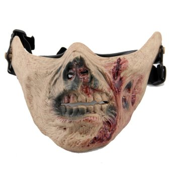 Halloween Zombie Walking Dead Scary Mask Children Costume Half Face Mask Skull Creepy Price Philippines