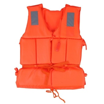 Harga Boating Life Vest Swimming Drifting Jacket Adults and Kids Life-saving Jacket With Whistle - intl
