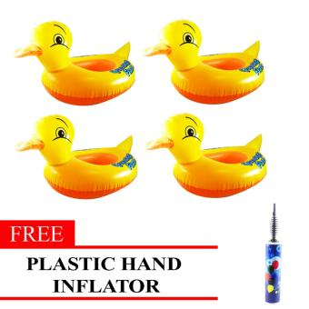 MMC Inflatable Lifebuoy Swim Ring Duck Set of 4 with Free Plastic Hand Inflator Price Philippines