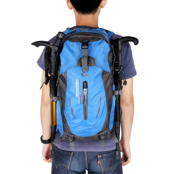 Harga Free knight 005 Outdoor Sports Backpack Hiking Camping Waterproof Nylon Bag 40L(Blue) - Intl
