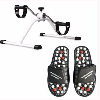 Harga Easy Exercise Bike With Acupuncture Foot Reflex Massage Slippers (Black)