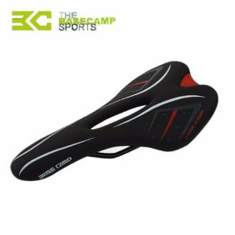 Harga Basecamp Bike Saddle Comfortable Skidproof MTB Mountain Bike Saddle Seat Cycle Racing Hollow Leather Carbon Road Bicycle Saddle - intl