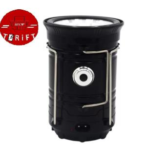 SHOP AND THRIFT Rechargeable 5800 Solar Camping Lantern Emergency LED Light BLACK Price Philippines