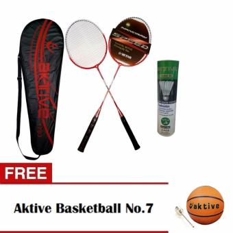 Aktive Badminton 1703 and Aktive Shuttlecocks Green Label (6 pcs) with Free Aktive Basketball No. 7 Price Philippines