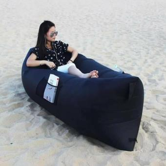 Harga New 2017 Best Quality Fast Inflatable Chair Lounger Air Sleep Camping Sofa Beanbag Beach Nylon Fabric Lounge Lazy Sleeping Bag Bed Outdoor (Red, Yellow, Green, Blue, Black Pink, Orange, Purple)