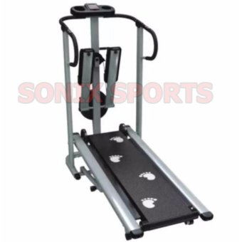 Harga Muscle Power 203H 3 in 1 Magnetic Manual Treadmill (Grey)