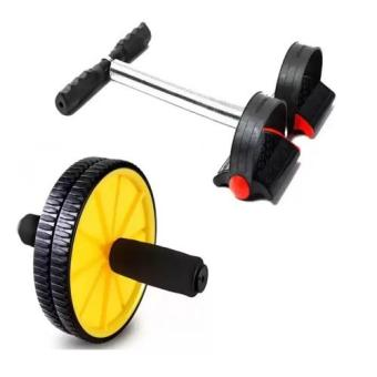 Harga Tummy Trimmer Foot Rally with AB wheel body exercise