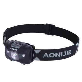 Harga AONIJIE Outdoor Camping LED Headlight Waterproof Fishing Headlamp 4 Modes Flashing Mountaineering Night Running Cycling - intl