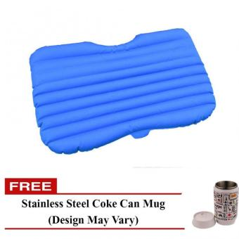 Harga Inflatable Car Air Bed (Blue) with Free Stainless Steel Coke Can Mug (Design May Vary)