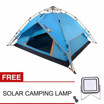 PINRY Automatic Hydraulic Tent (Blue) with FREE Solar Camping Lamp Price Philippines