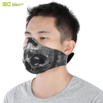 Harga Basecamp Unisex Anti-Dust Anti-Pollution Air Filter Breathable Face Mask For Cycling Riding Hiking(Black And Grey) - intl