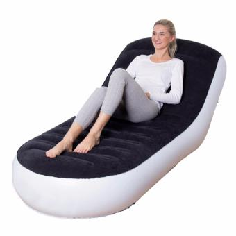 Harga Outdoor Inflatable Mattress Lounge Chair L-Shape Inflatable Sofa - intl