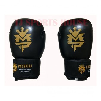 Harga MP Pacquiao Cowhide Leather Boxing Gloves 10oz (Black)