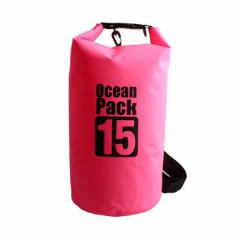 15L Waterproof Dry Bag (Pink) Price Philippines