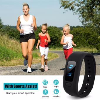 Harga Sports Excelvan Moving Up2 Smart Healthy Bracelet Bluetooth V4.0 Wristband with Pedometer / Sleep Monitoring / Tracking Calorie/Remote Capture (black)