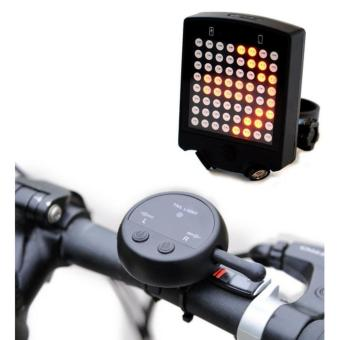 (Import)64 LED Wireless Remote Laser Bicycle Rear Tail Light BikeTurn Signals Safety Warning Light - intl