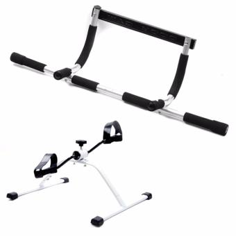 Iron Gym (Black/Gray) with Easy Exerciser (White/Black)
