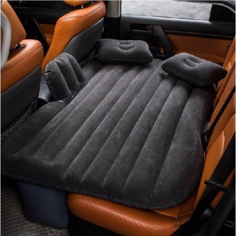 J&J New Car Travel Inflatable Air Mattress Seat Bed CampingExtended Sleep Pillow - Black