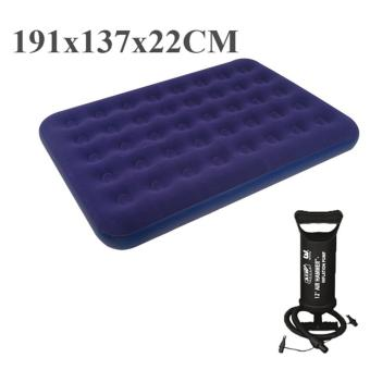jilong double 137*191*22cm 2-3 person sleep air inflatable mattressair bed with free QUICK HAND PUMP (double size:191x137x22cm)