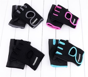 Jo.In Cycling GYM Half Finger Gloves Exercise Training (Gray) - 4