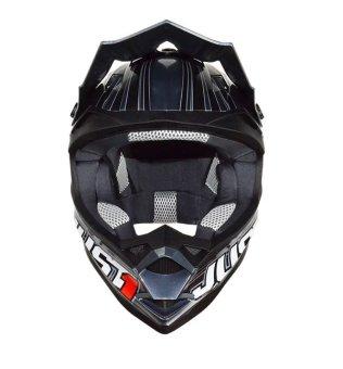 Just 1 by Nitek Motard 0003 Raptor Helmet (Black) - 2