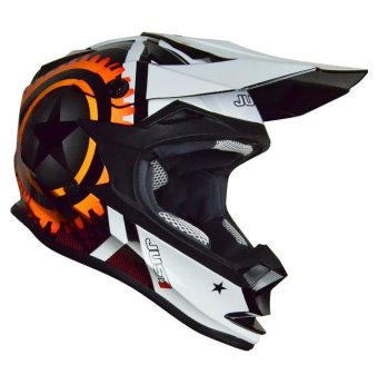 Just 1 by Nitek Motard 0006 Motorstar Agent Helmet (Orange) - picture 2