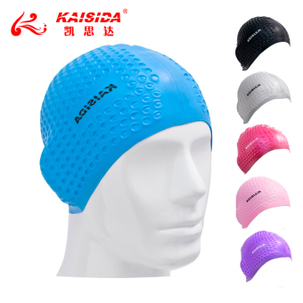 Kai SIDA men and women with long hair waterproof ear cap swimming cap