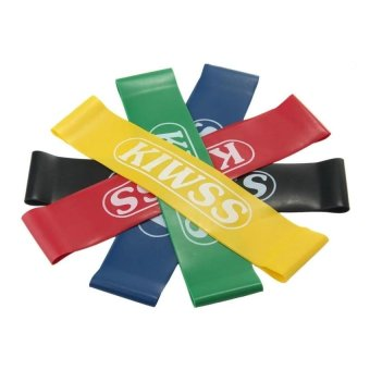 KCmall Resistance Loop Band Set Fitness Exercise Bands For Legs,Stretching Workout, Physical Therapy(set Of 5Pcs) - intl