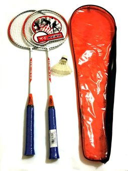 Keka Professional Double Badminton Racket with Shuttlecock (Orange)