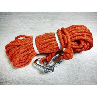 Kernmantle Safety Rope Climbing Rappelling Rescue Escape 20m(Orange)
