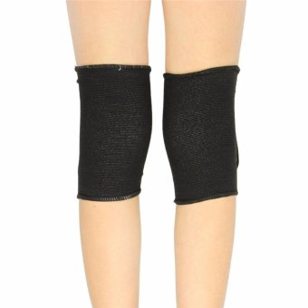 Kids Children Boys Girls Stretchy Cotton Knee Pads Sports Padded Knee Sleeves Dancing Protective Brace Support Strap Wrap Band for Basketball, Volleyball, Football, Skating Sports 8-15 Age,Black+letters - intl - 3
