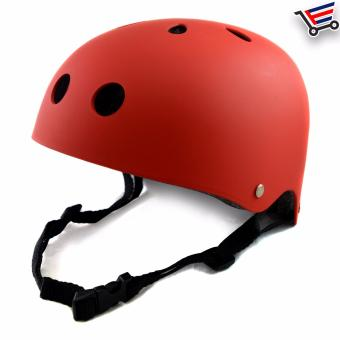Kids/Adult Bmx Nutshell Bike Cycling Protective Helmet (Red)