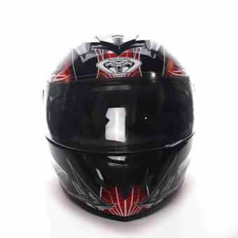 King Cobra K-691 Motorcycle Helmet Large (Black/Red)