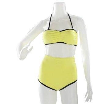 Kurba Donna Swimsuit (Yellow and Black)