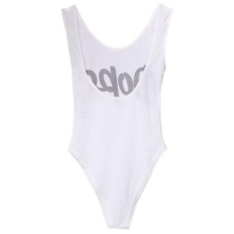 LALANG Women Sexy One-piece Bikini Bathing Suit Swimwear (White) - 2