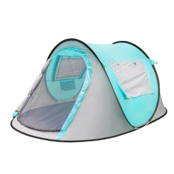 Large throw tent!outdoor 3-4persons automatic speed open throwingpop up waterproof beach camping tent 2 second open - intl