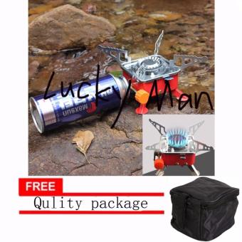 lazada and USA best selling mini Square Portable Windproof CampingButane Gas Stove with free Qulity package